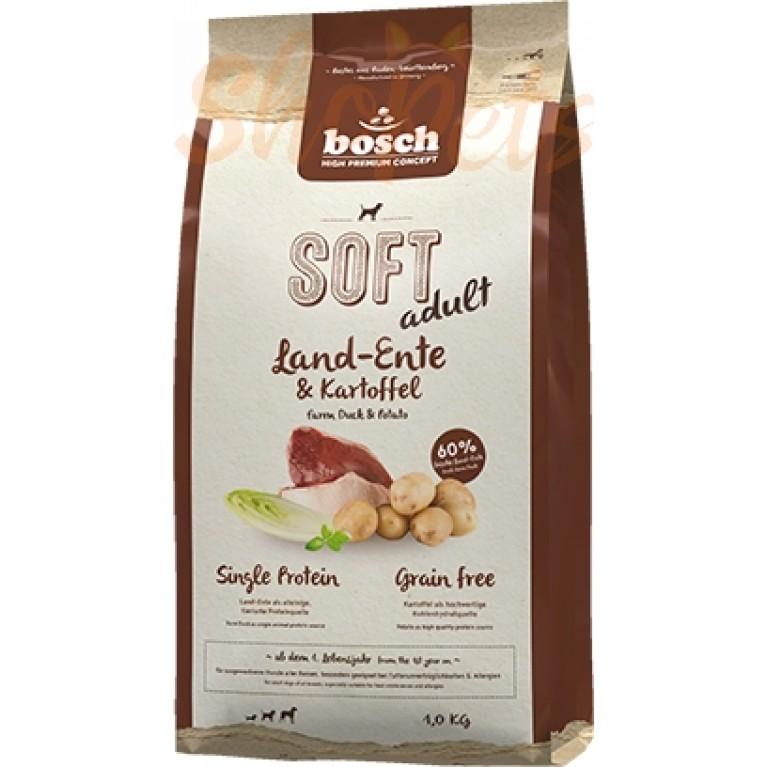 Корм полувлажный с уткой и картофелем для взрослых собак Bosch Soft Adult 1 кг