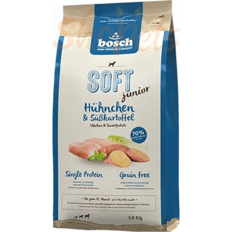 Корм Bosch Soft Junior с курицей и бататом полувлажный корм для щенков в возрасте с 2 до 12 месяцев 1 кг