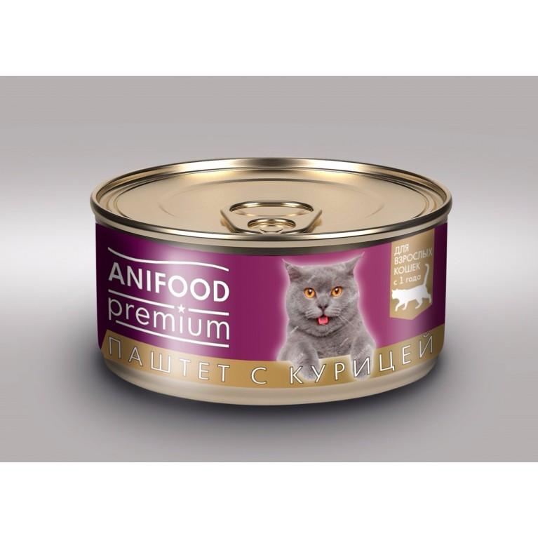 """Корм консервированный для кошек """"ANIFOOD premium"""", паштет с курицей, 100 г"""