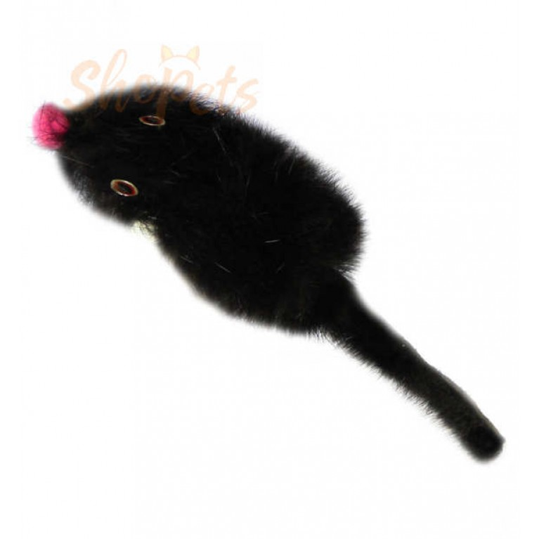 """Игрушка """"Мышь норка M"""" GoSi без упаковки (мышь из натуральной норки 5 см)"""