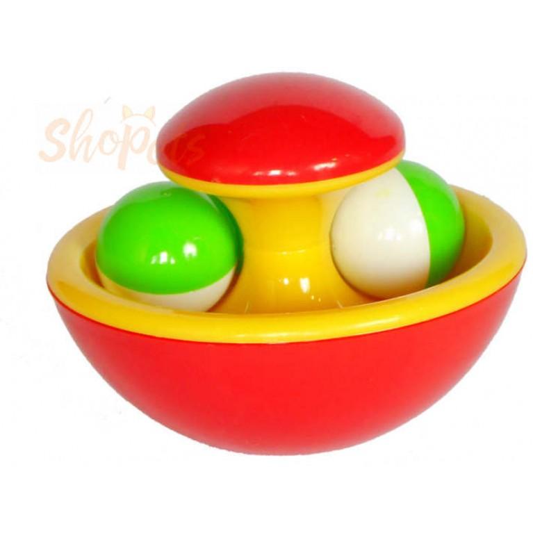 """Интерактивная игрушка """"Неваляшка"""" GoSi 10 см. звенящая без упаковки"""