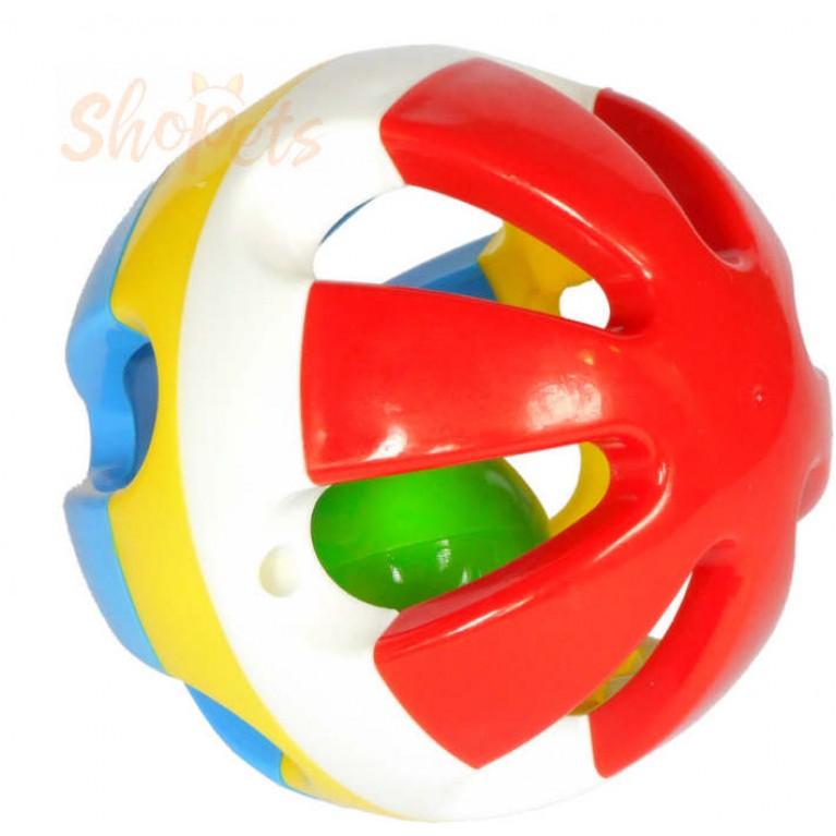 """Интерактивная игрушка """"Шар в шаре"""" GoSi 9 см. звенящая без упаковки"""