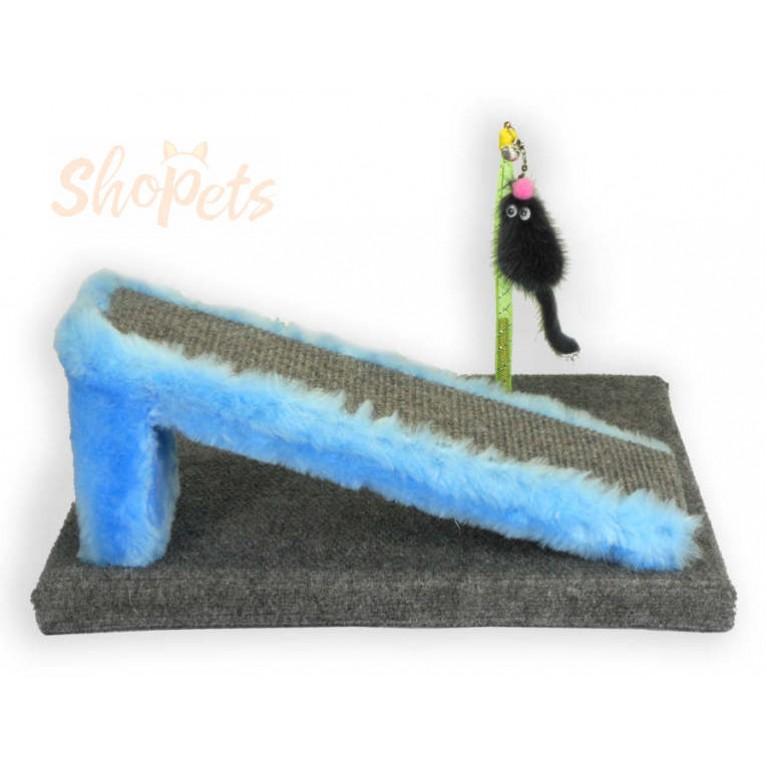 Игровой комплекс для кошек когтедралка ГОРКА и мышка из натуральной норки на пружине Ninja Cat