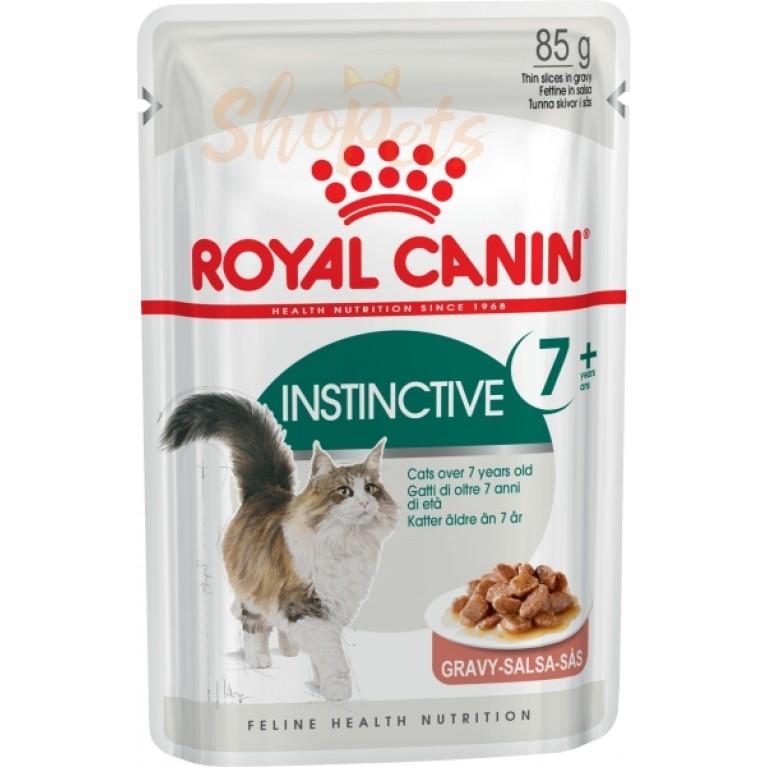 Влажный корм для кошек старше 7 лет Royal Canin INSTINCTIVE +7 (В СОУСЕ) 85 г