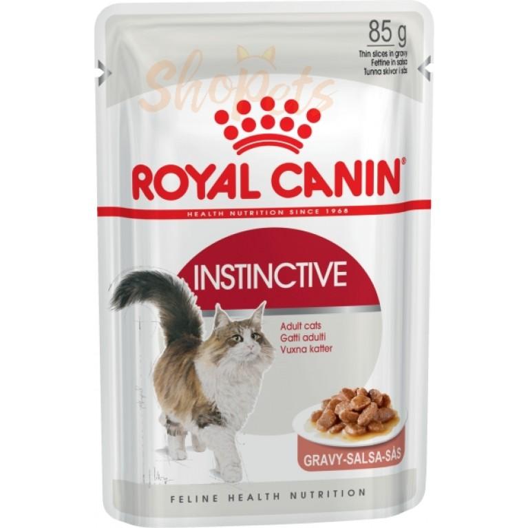 Влажный корм для кошек старше 1 года Royal Canin INSTINCTIVE (В СОУСЕ) 85 г