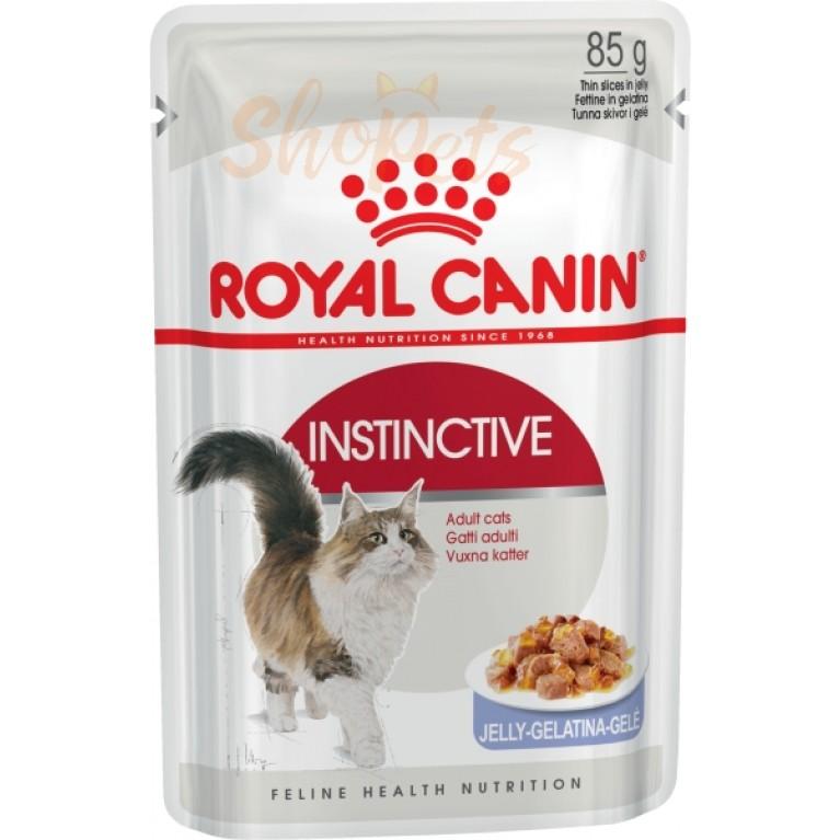 Влажный корм для кошек старше 1 года Royal Canin INSTINCTIVE (В ЖЕЛЕ) 85 г