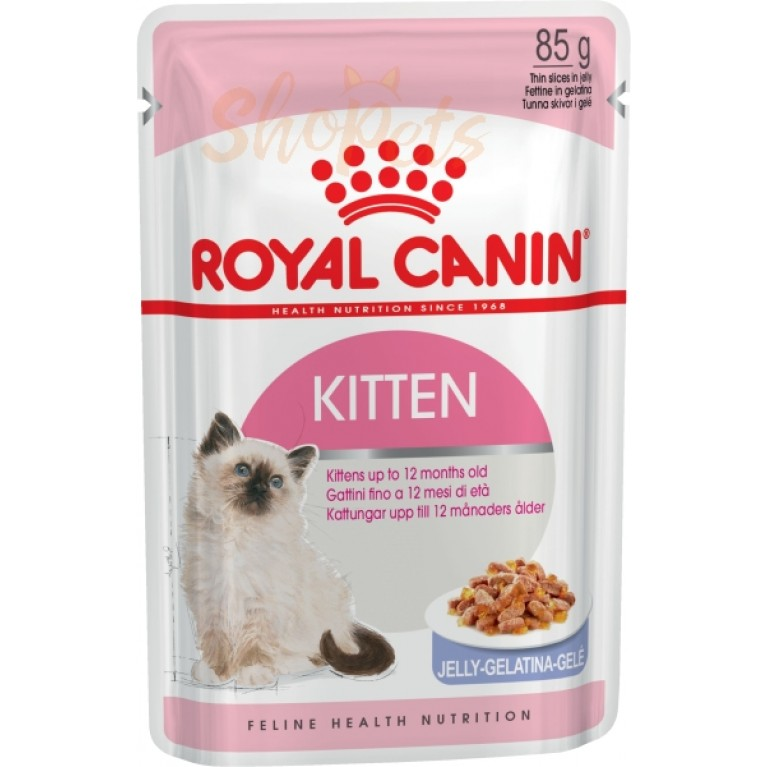 Влажный корм для котят с 4 до 12 месяцев Royal Canin KITTEN INSTINCTIVE (В ЖЕЛЕ) 85 г
