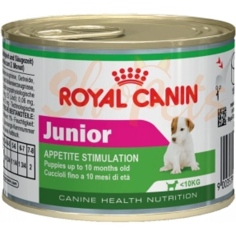 Влажный корм для щенков в возрасте до 10 месяцев Royal Canin Junior (ЮНИОР) 195 г