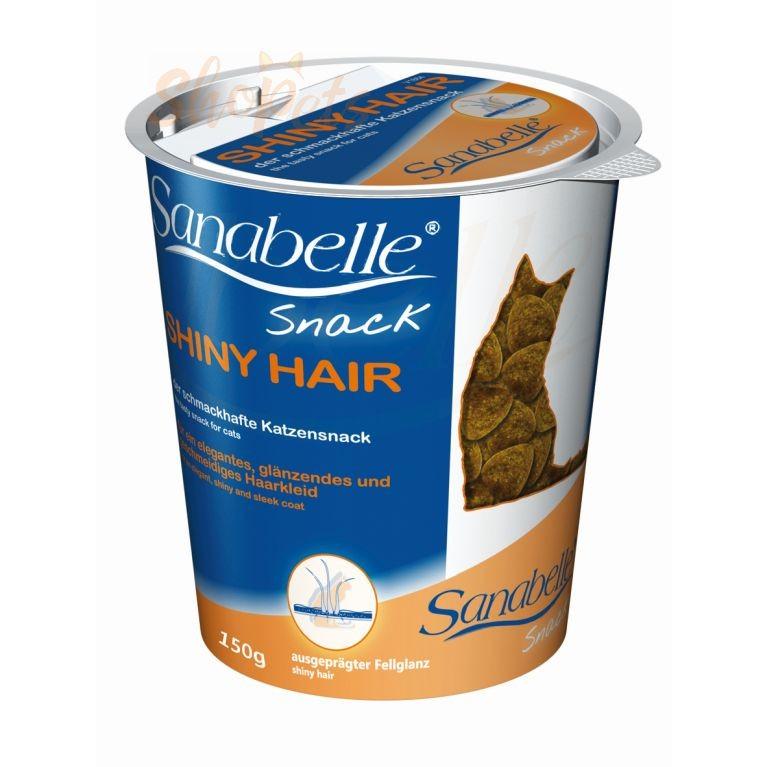 Лакомство для кошек Sanabelle SHINY HAIR 150 г