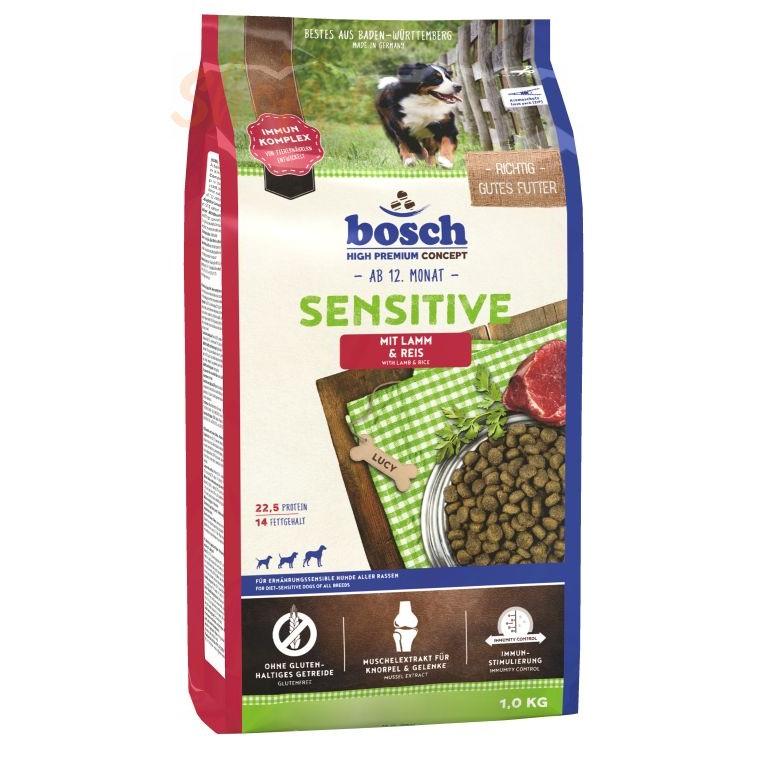 Сухой корм Bosch SENSITIVE с ягнёнком и рисом 1 КГ